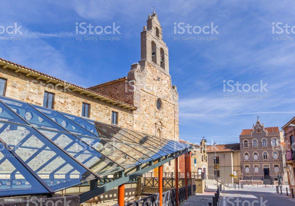 Romana de la plaza en el centro histórico de Astorga, España - foto de stock