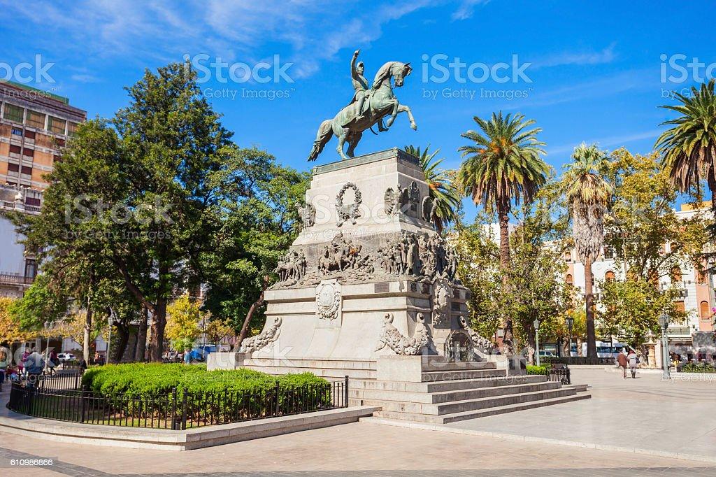 Plaza San Martin, Cordoba stock photo