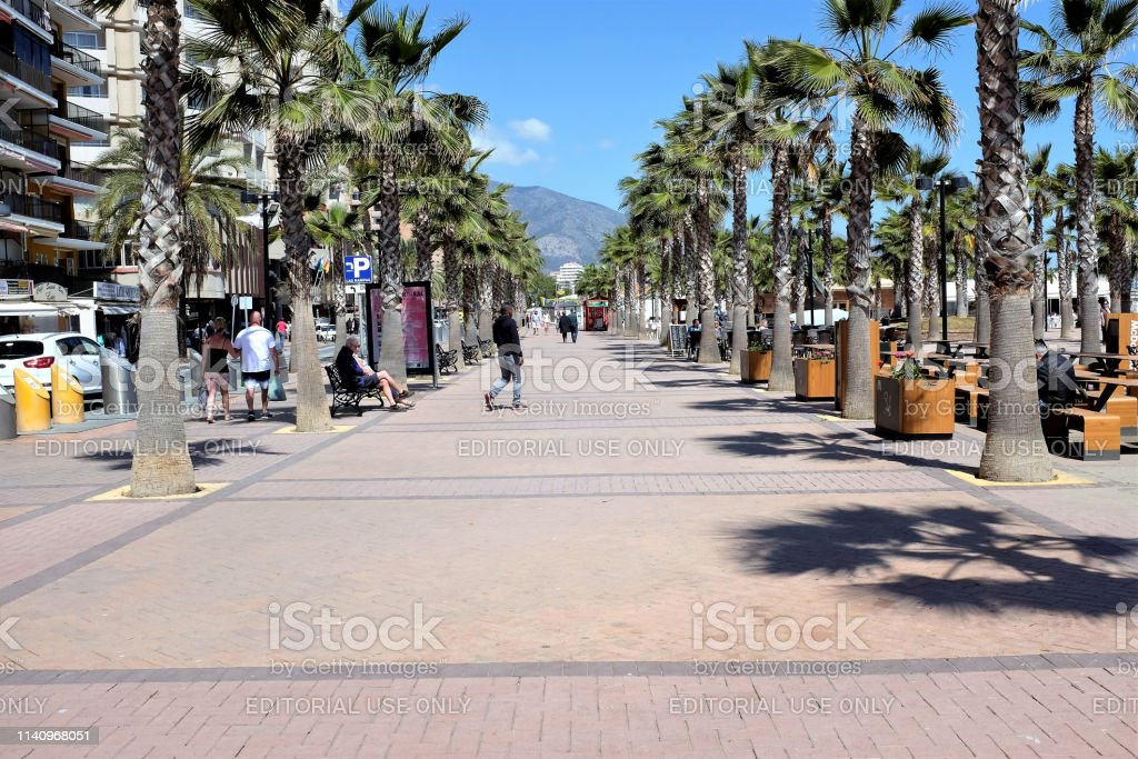 Plaza Teresa Zabell, Fuengirola, Spain. stock photo
