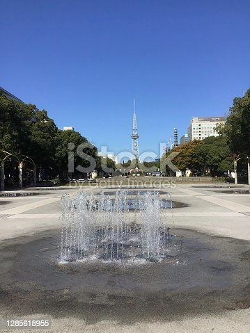 istock A plaza with a fountain in Hisaya Odori Park 1285618955