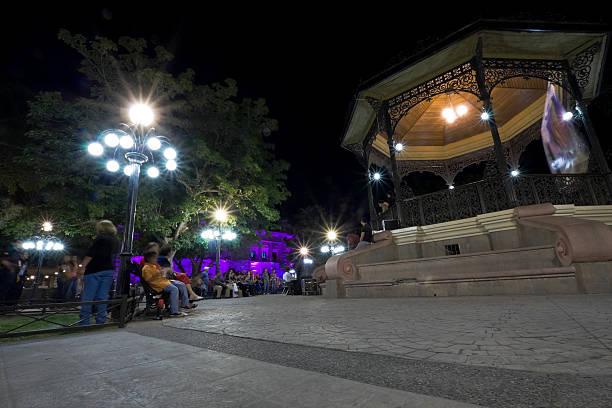Plaza Zaragoza, Hermosillo stock photo