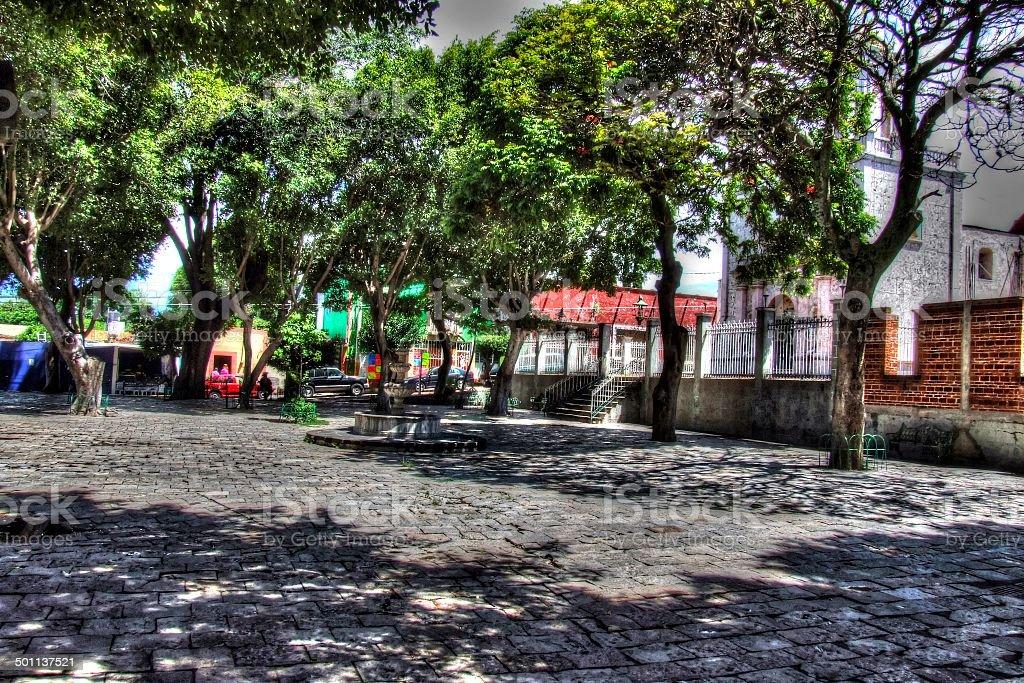Plazuela La Soledad, Atlixco, Puebla - foto de stock