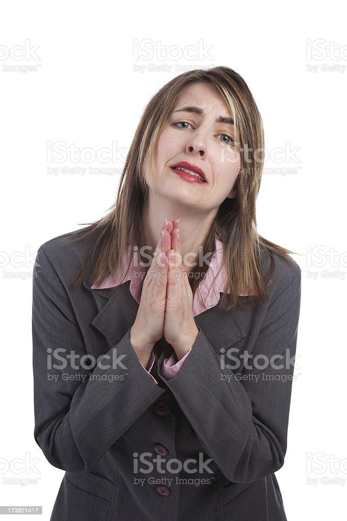 Pleading Business Woman stock photo