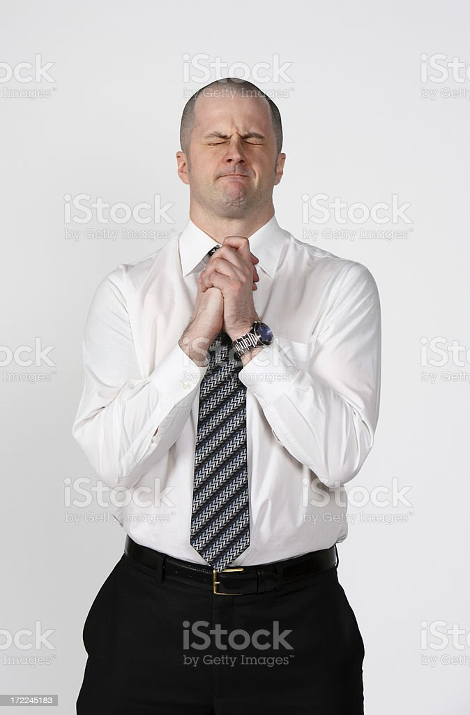 Pleading Businessman royalty-free stock photo