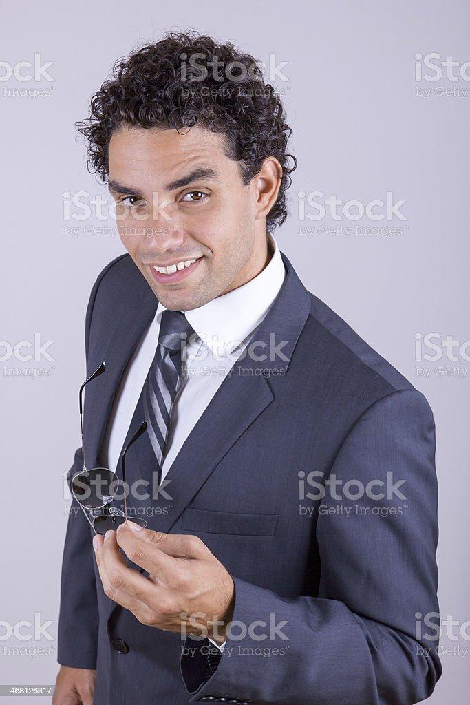 pleasant businessman stock photo