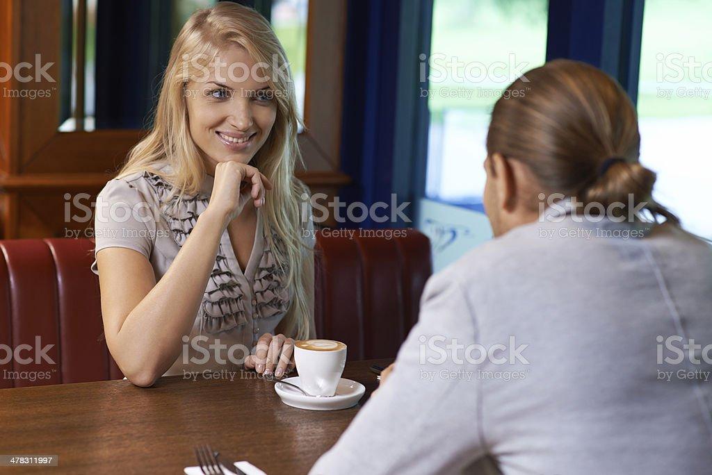Pleasant conversation royalty-free stock photo