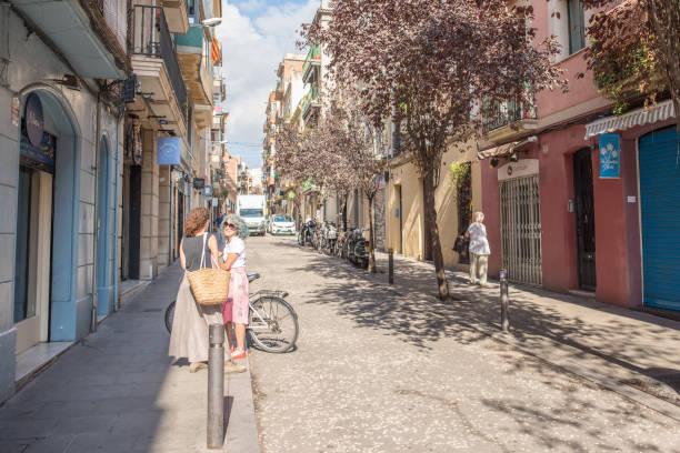 Pleasant day in Gracia, Barcelona stock photo