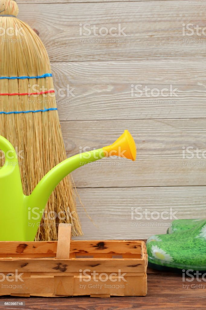 Pleasant duties in the garden. royalty-free stock photo