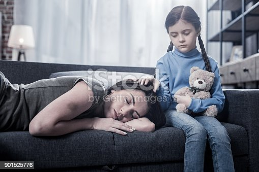 istock Pleasant nice girl caring about her mother 901525776