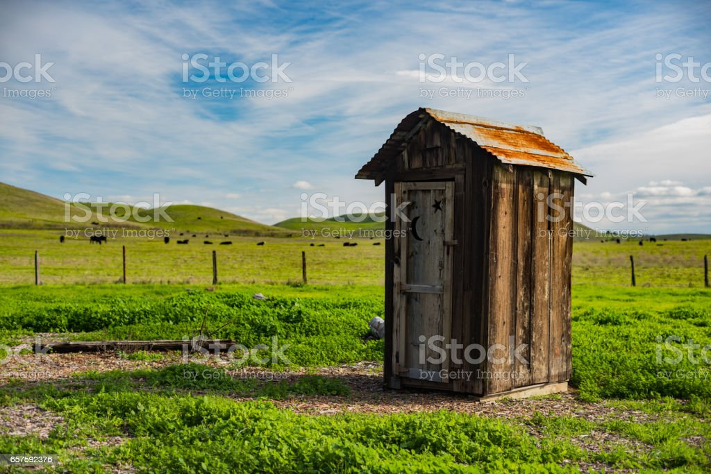 A Pleasant Outhouse stock photo
