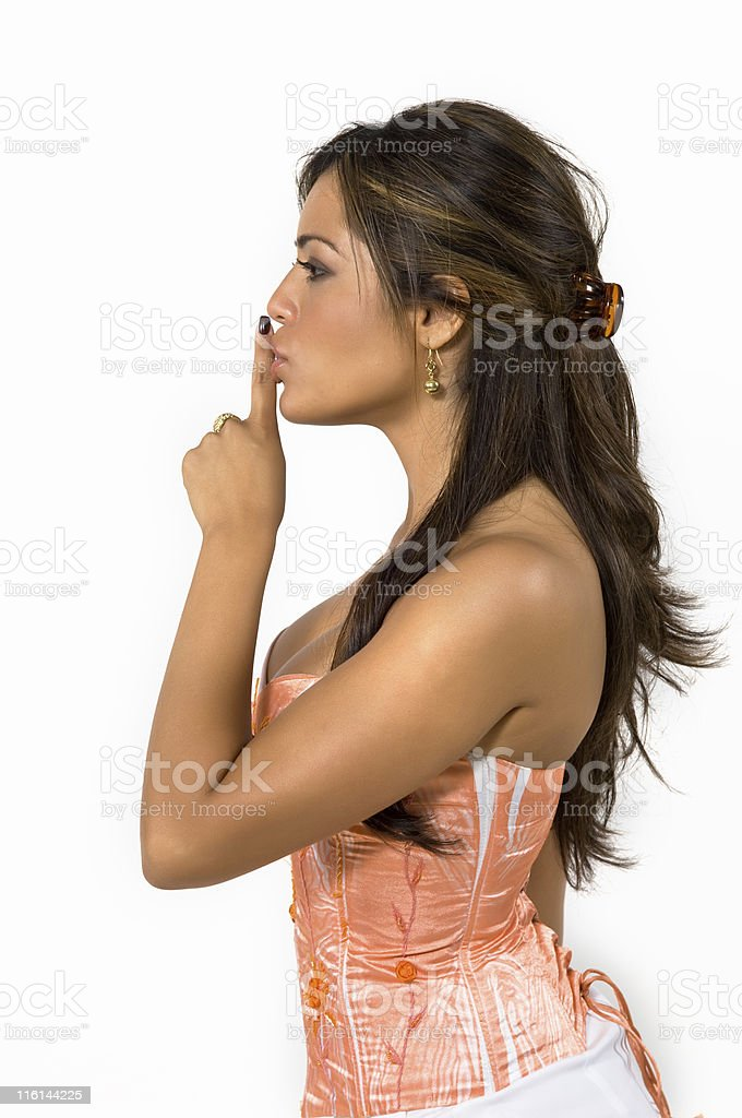 Please be quiet royalty-free stock photo