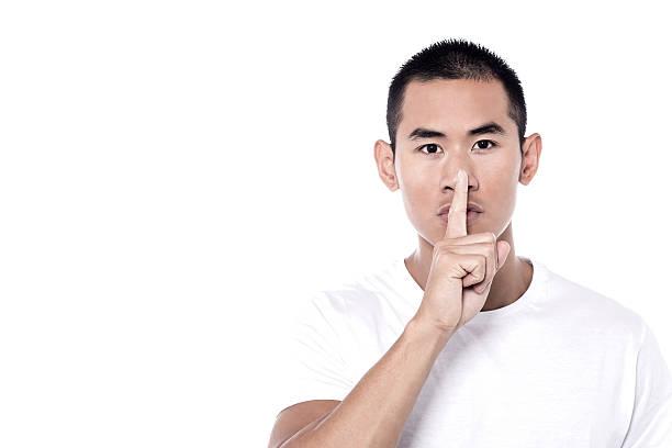 Please be quiet! stock photo