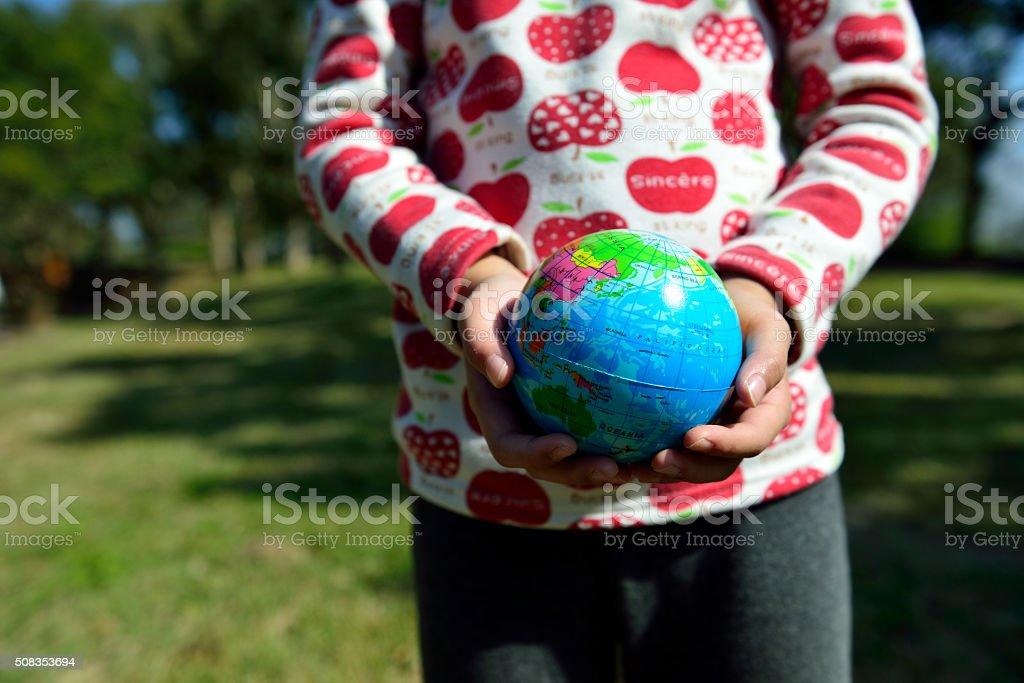 Please cherish our planet, cherish our environment stock photo