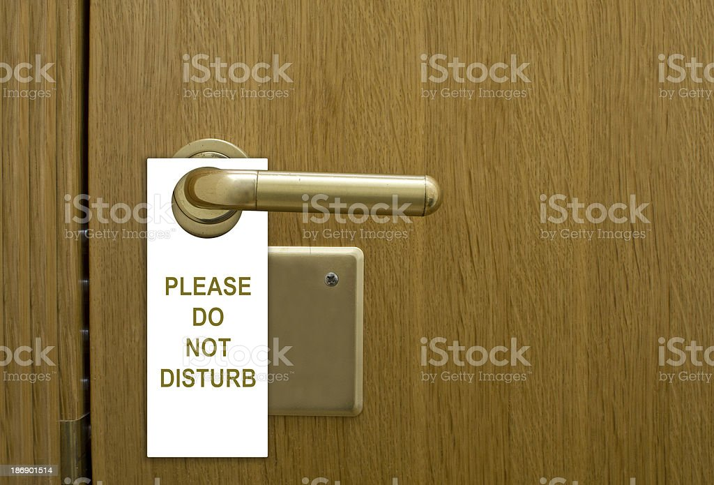 Please do not disturb stock photo