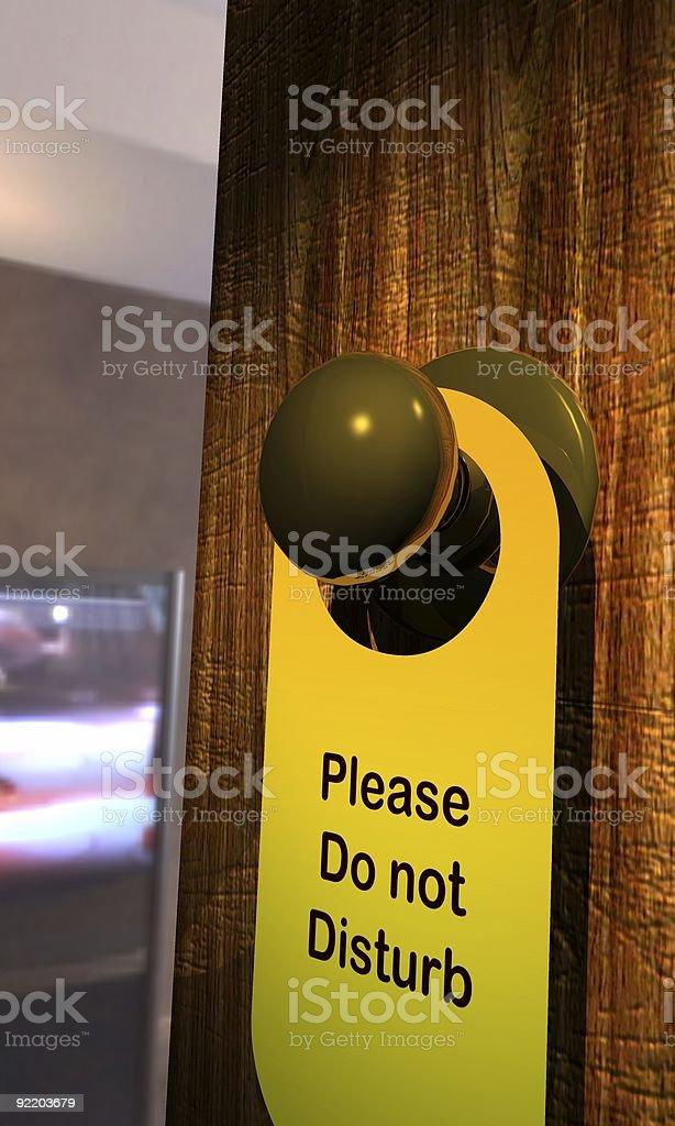Please Do Not Disturb royalty-free stock photo