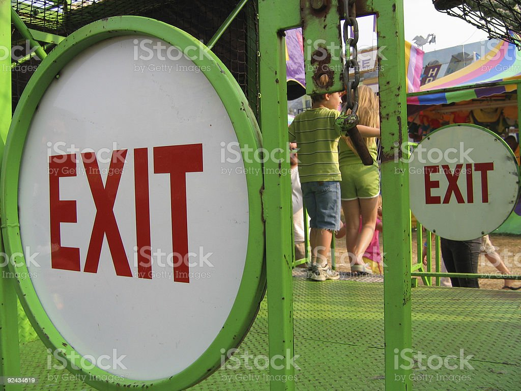 Please exit to your left. royalty-free stock photo