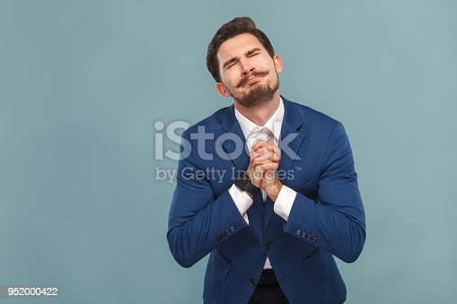 istock Please forgive me! Guy made a big mistake 952000422