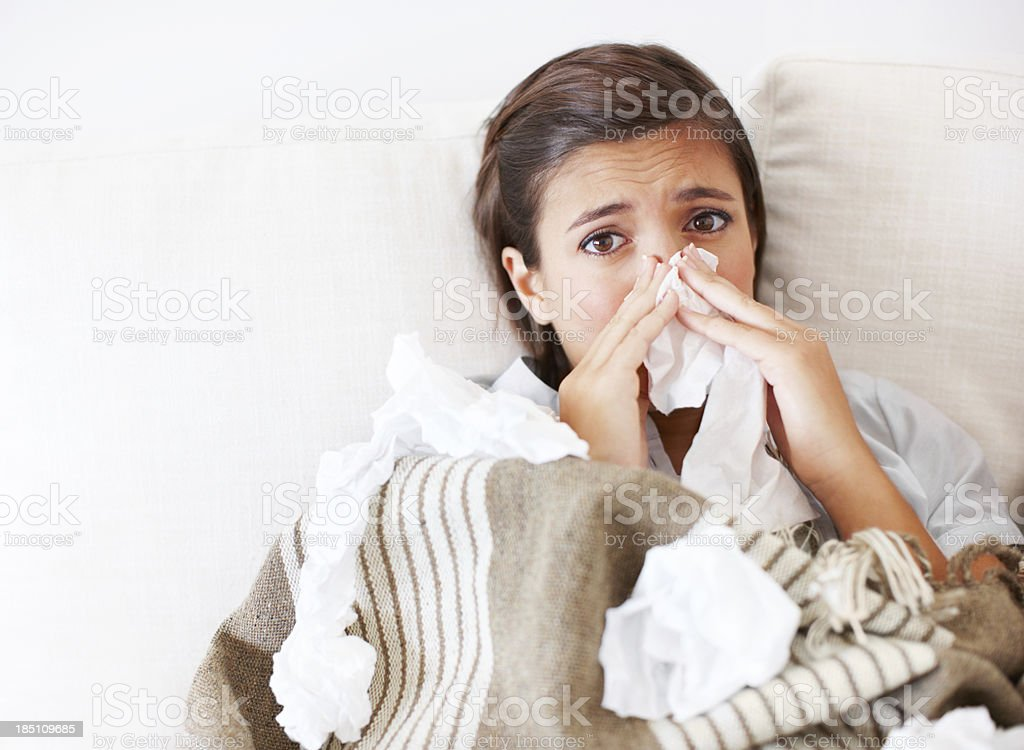 Please get me some fresh tissues royalty-free stock photo