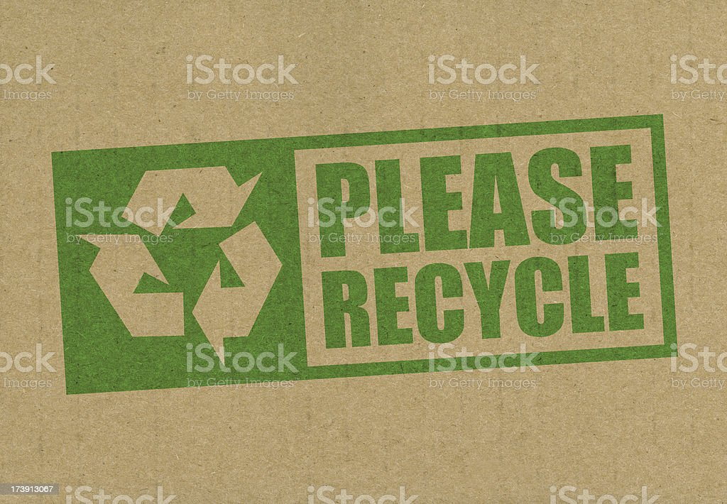 Please recycle royalty-free stock photo