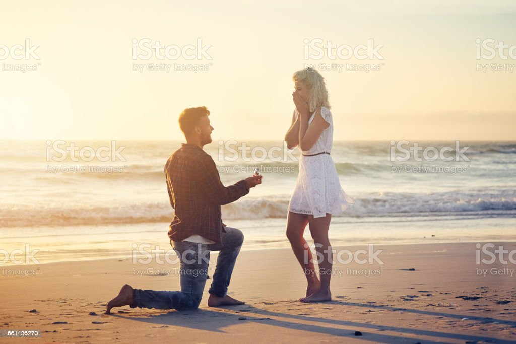 Please say that you'll be my wife! stock photo