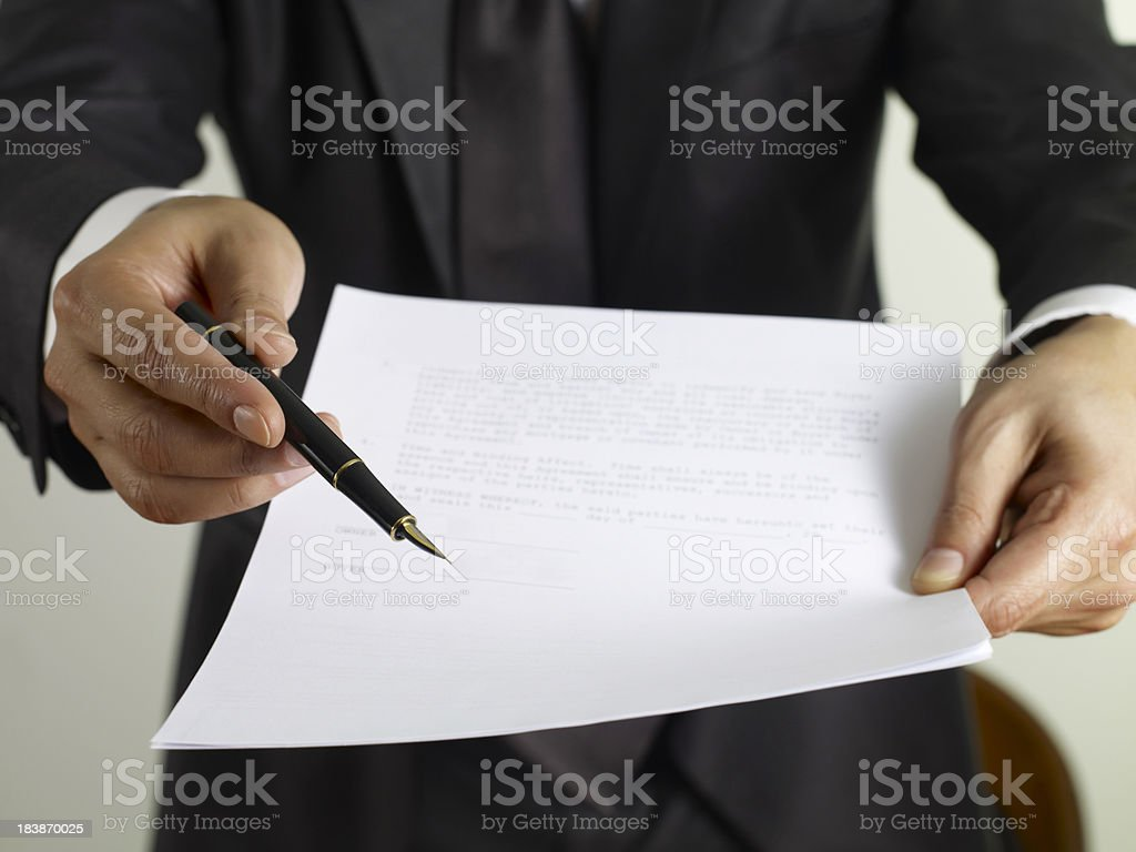 Please Sign Here royalty-free stock photo