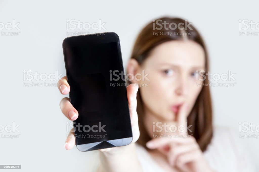 Please silence your cell phone stock photo