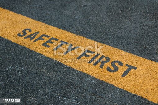istock Please stand behide the yellow line! 157373466