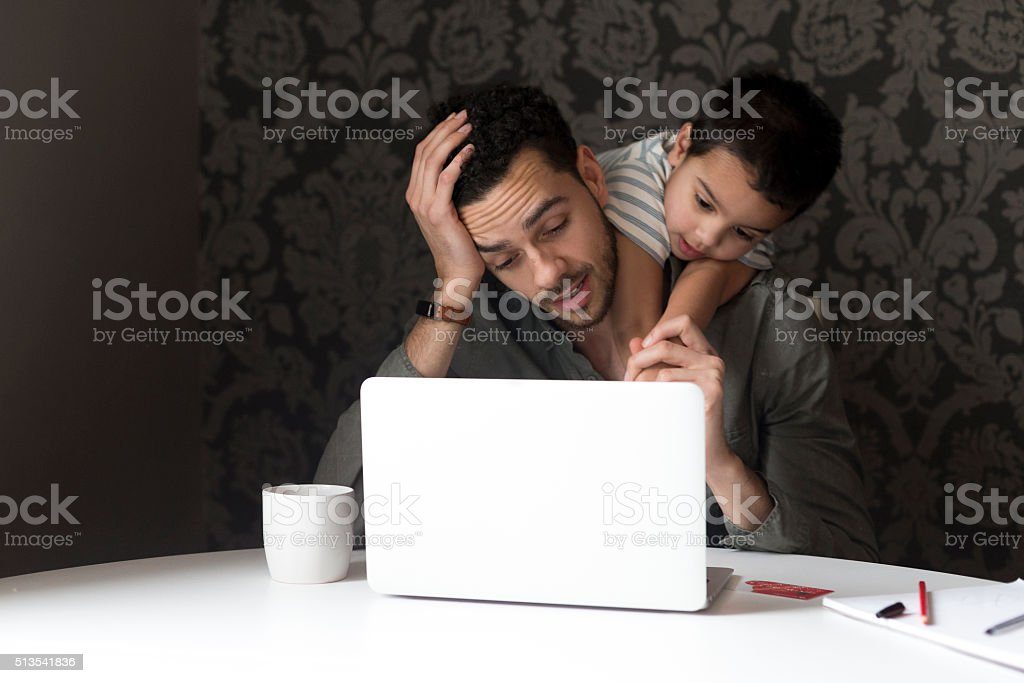 Please stop touching things! stock photo