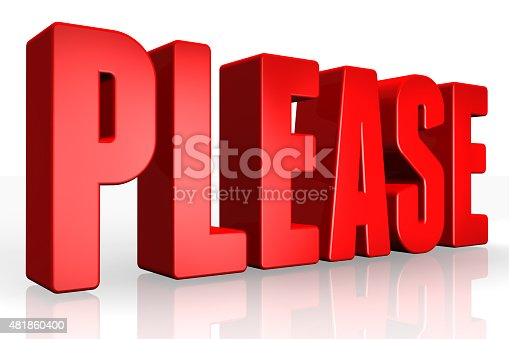 istock 3D please text on white background 481860400