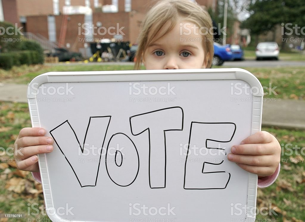 Please Vote royalty-free stock photo
