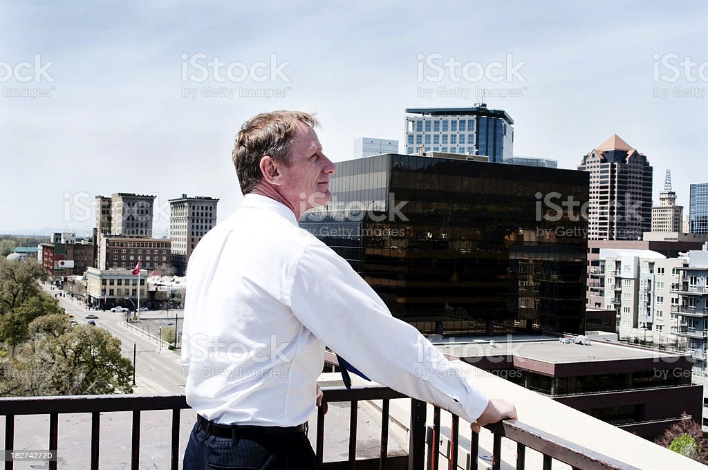 Pleased Businessman royalty-free stock photo