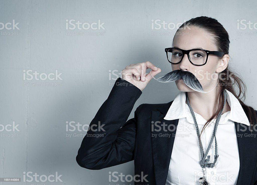 Pleased CEO royalty-free stock photo