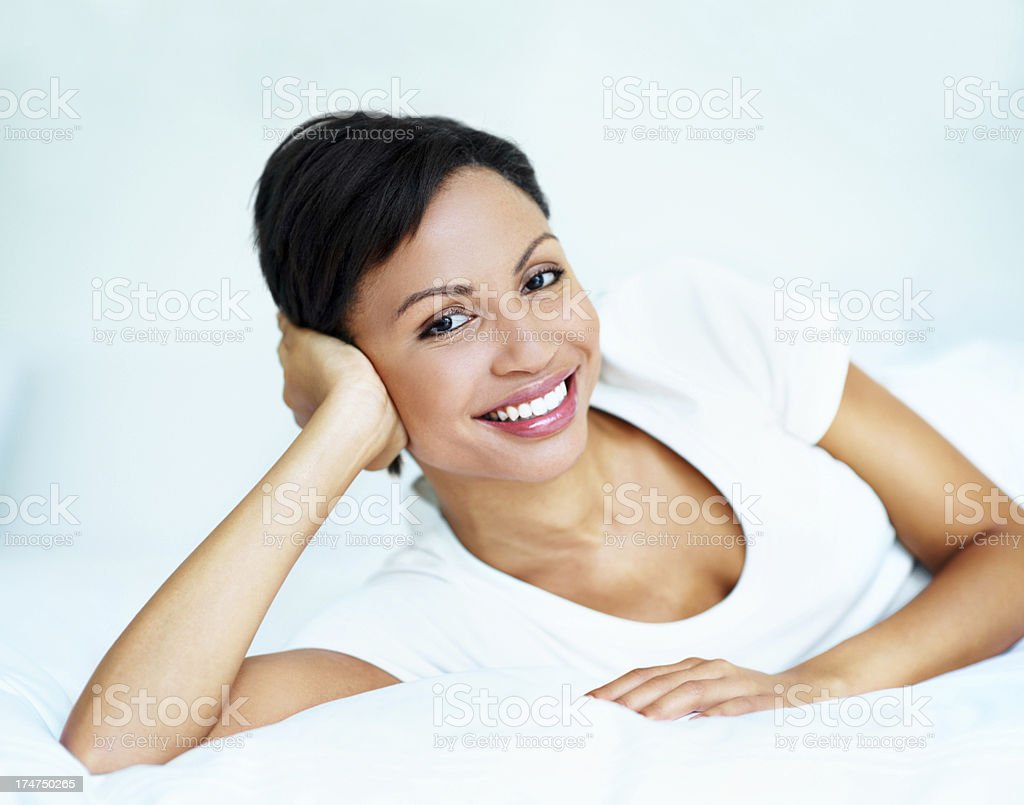Pleased to be me royalty-free stock photo