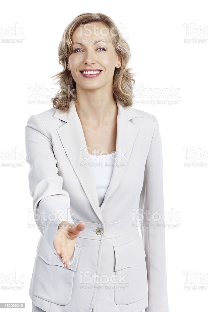 Pleased to make your acquaintance stock photo