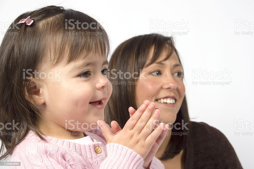Pleased Toddler Clapping royalty-free stock photo