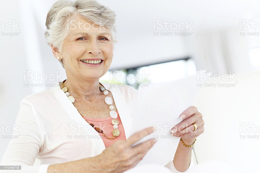 Pleased with her policies and investments royalty-free stock photo