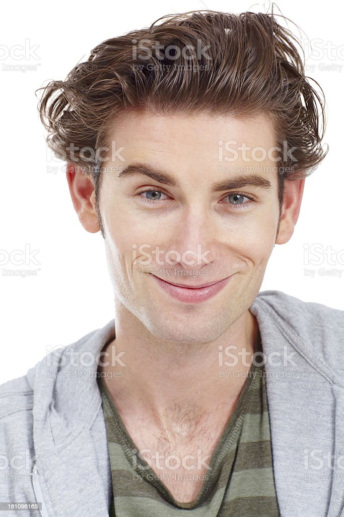 Pleased with his life royalty-free stock photo
