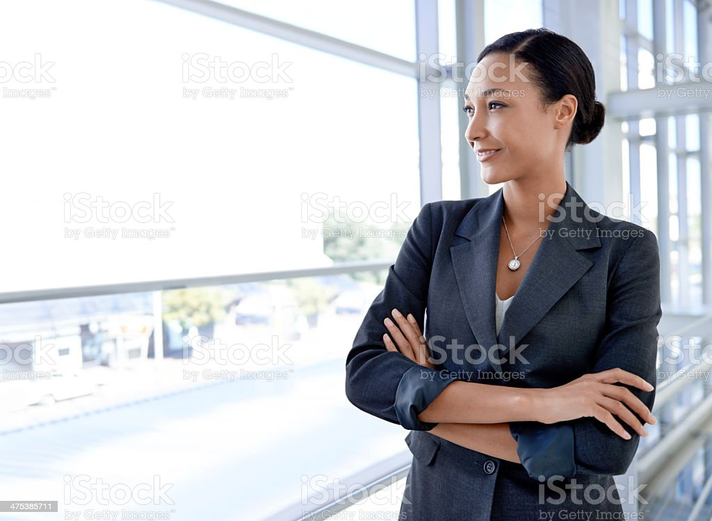 Pleased with my corporate decisions. stock photo