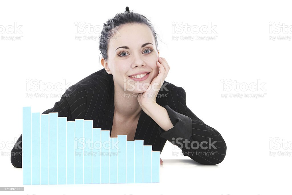 Pleasing Graph royalty-free stock photo