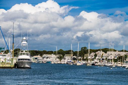 Pleasure Boats at Falmouth Marina