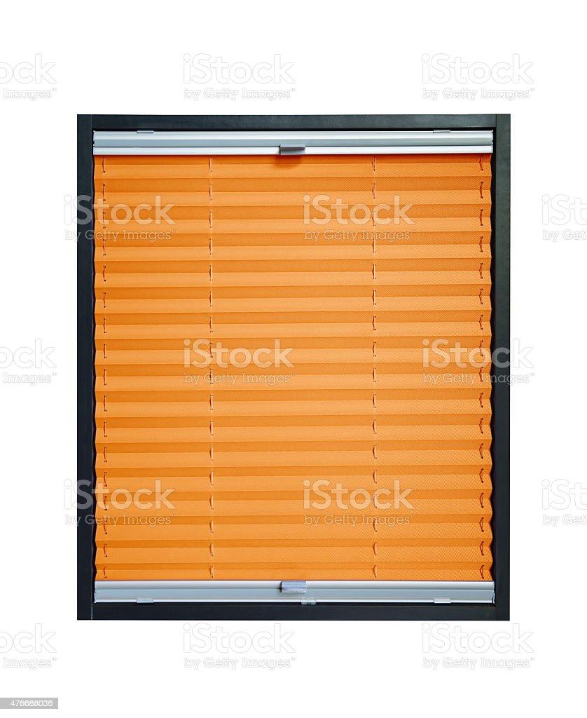 Pleated blind - orange color stock photo
