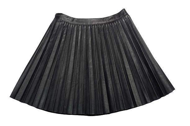 34e01ac92d Pleated Leather midi skirt isolated on white background stock photo