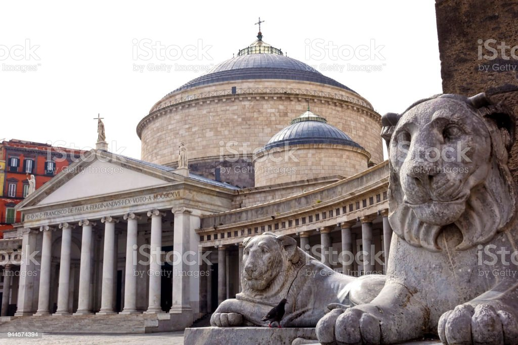 Plebiscito square of Naples - foto stock
