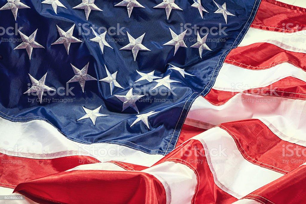 I pledge allegieance to my flag stock photo