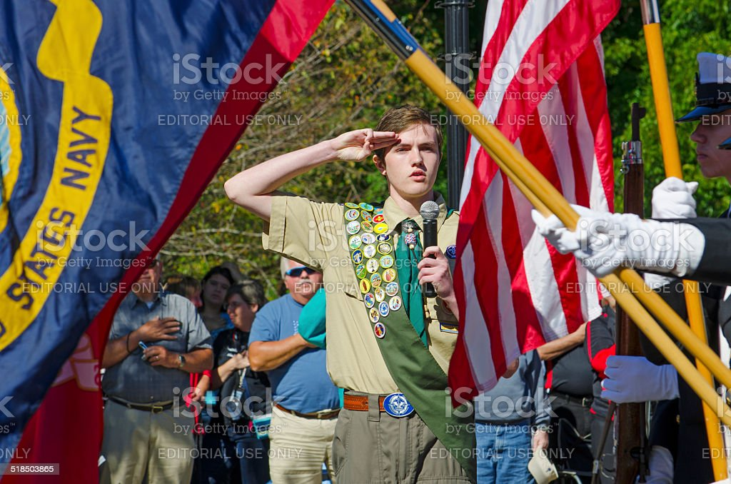 Pledge of Allegiance stock photo