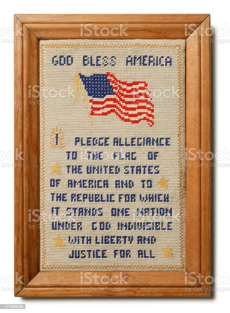 Pledge of Allegiance Sampler stock photo