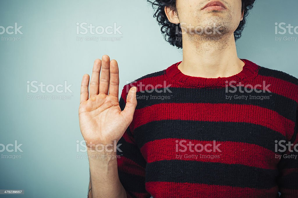 Pledging allegience stock photo