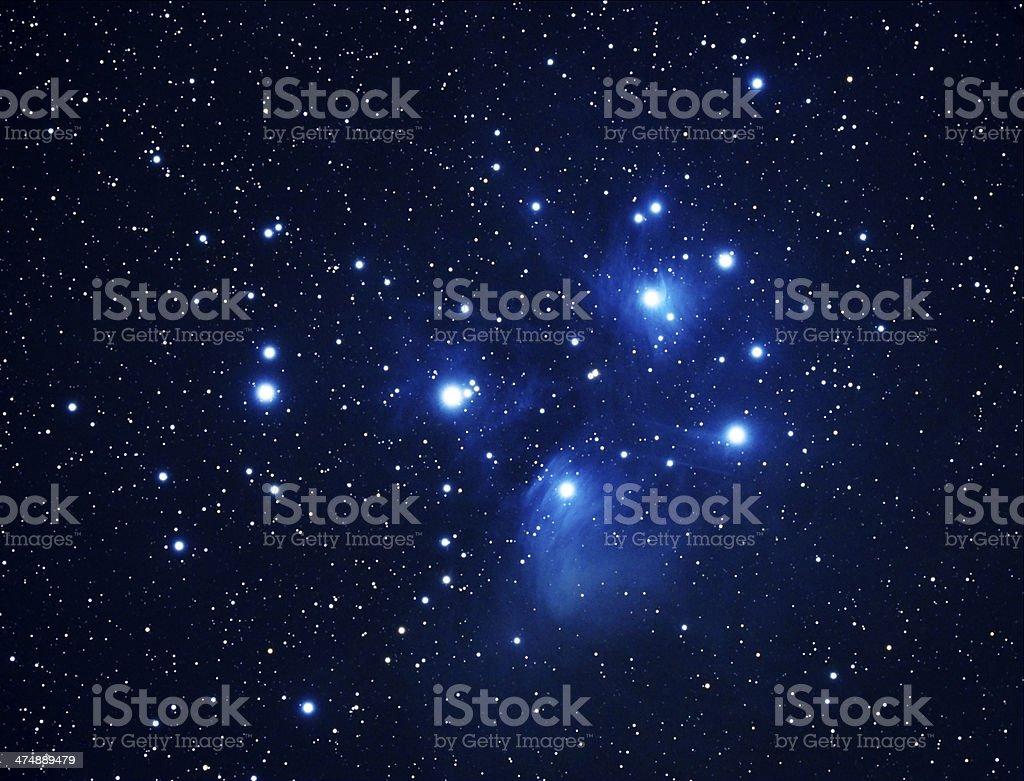 Pleiades M45 stock photo
