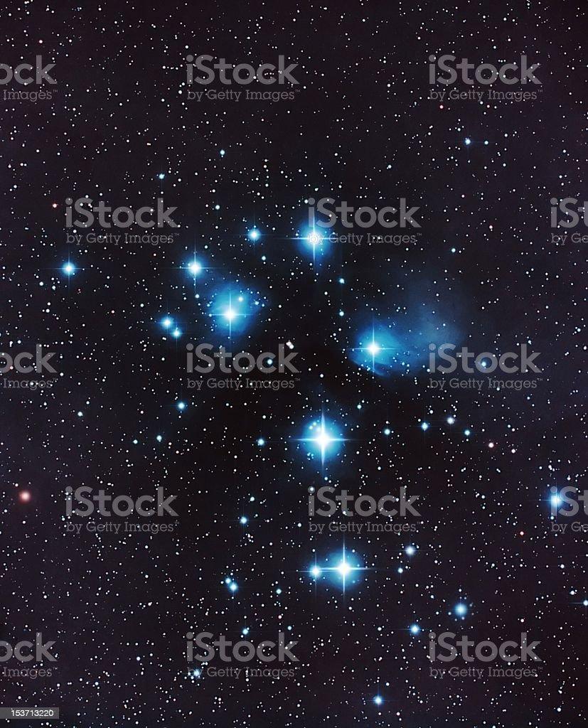 M45, Pleiades royalty-free stock photo