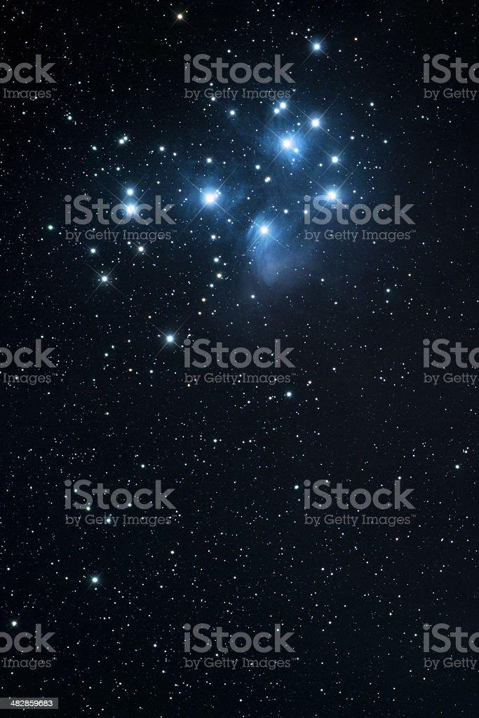 Pleiades royalty-free stock photo